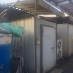 業務用冷蔵室の解体撤去