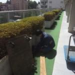 コンクリート製花壇撤去作業