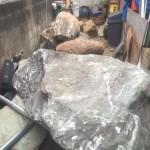 石の運搬江戸川