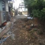 横浜市港北区庭石撤去