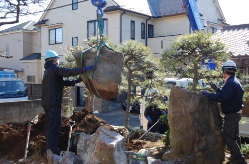 庭石の撤去