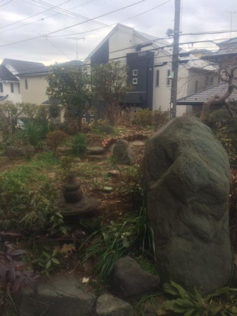 町田市庭石撤去前