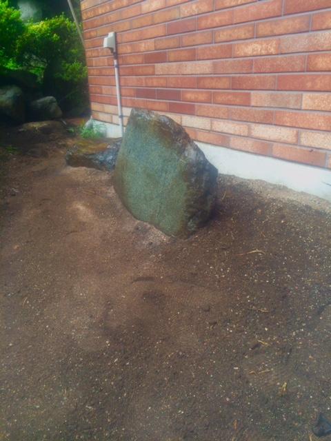 庭石移動後