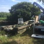 木更津市大型半沈和船撤去作業