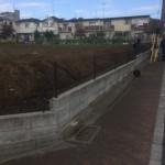 杉並区ブロック塀撤去作業