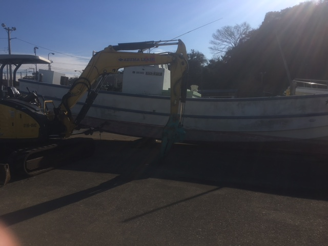 12メートル漁船撤去