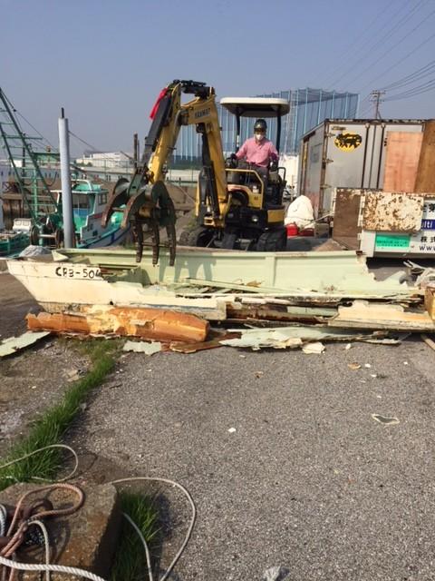 市川漁船解体