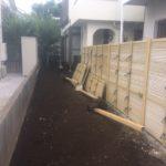 町田市邸宅自然石撤去と伐根作業