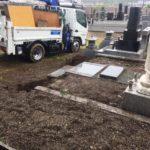 市原市寺社内の墓の外構の一部撤去