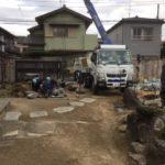 埼玉県庭石撤去作業