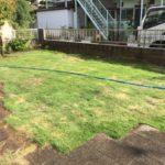 芝の敷設作業