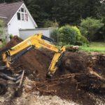 栃木県那須町別荘地の伐根作業