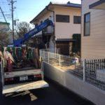 藤沢市邸宅自然石撤去作業
