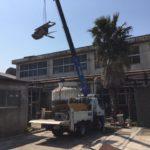 千葉県市原市クーリングタワー解体作業