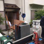 鎌倉狭小地からの大型金庫搬出作業