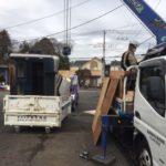 5mバスボート解体撤去作業