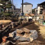 町田市敷石撤去作業