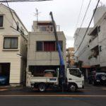 武蔵野市冷蔵庫、洗濯機吊り上げ作業