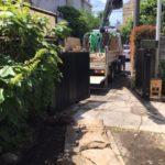 東京都豊島区敷石の移動作業