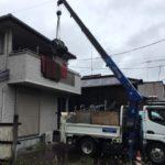 栃木県中型金庫吊り上げ撤去作業